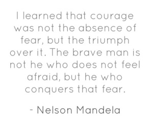nelson mandela courage