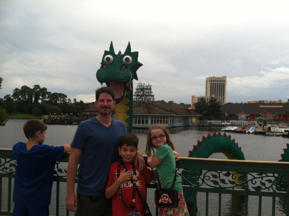 Family in Downtown Disney